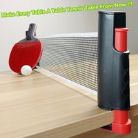 Wholesale 1x Portable Retractable Table Tennis Table Net Rack Replace Kit for Ping Pong Playing ABS plastic Strong Mesh Net