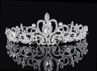 Wholesale High Quality Shining Beaded Crystals Wedding Crowns Bridal Veil Tiara Crown Headband Hair Accessories Party Wedding Tiara