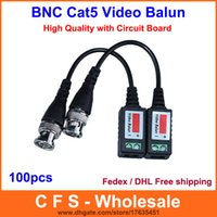 Wholesale 100pcs High Quality Video Balun Twisted BNC CCTV Video Balun passive Transceivers UTP Balun BNC Cat5 CCTV UTP Video Balun DHL