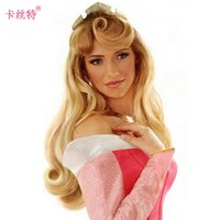ai beauty - Cosplay wig factory Sleeping Beauty AI Laura Princess golden brown long curly hair hair wig