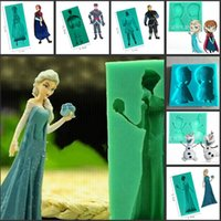 Wholesale Frozen Elsa Anna Olaf Kristoff D Silicone Soap Mold Cake Baking Fondant Candy Molds Biscuit Mould Christmas Cake Decorating Tools Supplies