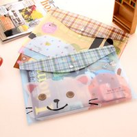 animal control supplies - Limited Promotion Pvc Stationery Office Supplies Carpeta C384 Snap Animal Cartoon Bags A4 Grid Control Cross section Kits
