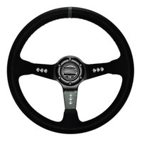 Wholesale 14 quot MM Car styling Steering Wheel Leather Drifting Steering Wheel Inch Steering Wheel Deep Corn Dish