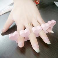 Wholesale women army fans Small household goods nail art tools finger separator nail polish oil Toe Separators