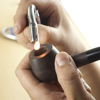 Cheap Wholesale-New ebony wood pipe briar pipe elbow oblique fire lighters dedicated pipe lighters