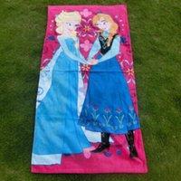 Wholesale 120 cm FROZEN Princess Towel Frozen Elsa and Anna cotton towels bathroom children beach towel kids bath towelaa