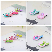 Wholesale Child Cute Rhinestone Crown clip Barrettes baby hair accessories acrylic clip Hair Clips factory direct sale