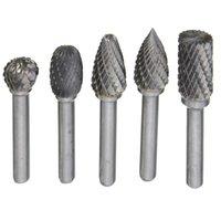 best burr grinder - 5pcs mm Head Tungsten Carbide Rotary Point Burr Die Grinder Bit mm Shank Kit Best Promotion
