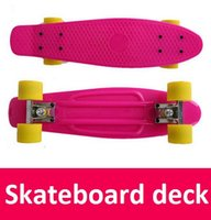Wholesale 8pcs Mini Plastic Skateboard Penny Skateboard deck trucks wheels penny skateboard deck skateboard penny skateboard decks