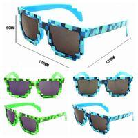 Wholesale Minecraft Creeper Sunglasses Glasses Knickknack JJ Mosaic Glasses Minecraft Sun Glasses Colors Available Minecraft Creeper Sunglasses