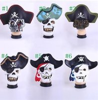 Wholesale 6 Style Mixed Halloween Scary Party Horror Skull Mask Pirates of the Caribbean Fancy Dress Mask