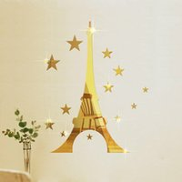bathroom stereo - European and American Creative Stickers D Stereo Waterproof Acrylic Background Bathroom Mirror Stickers Affixed
