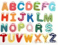 wooden toys for children - Children s Toys Wooden Alphabet Fridge Magnets One Set have Puzzle toys for Kids