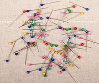 Wholesale mix Color needle positioning and pins sewing and pins decorating pearl round head pin mm mm