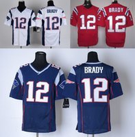 Wholesale Patriots Mens Jerseys Tom Brady High Quality Elite Version Navy Blue White Red Stitched Jerseys Mix Order Accept
