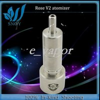 Cheap 002 2014 Newest Rose Atomizer 1:1 Cone Rose v2 Atomizer Ecig Rose V2 Atomizer RDA rebuildable Stainless Steel 22mm Diameter 3.7ml Tank