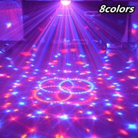 Wholesale 24W Sound Control Stage Light Colors V Modes LED Magic Crystal Ball Lamp Disco Light Laser Wedding Party Lamp