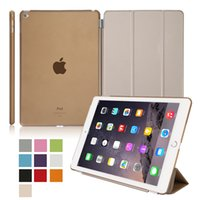 Wholesale Tablet cases PU Leather Magnetic Smart Cover Clear Hard PC Back Case for iPad iPad Air Apple iPad Air iPad Mini iPad Mini