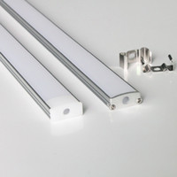 Wholesale m a m per piece led aluminum profile for led strips with milky diffuse cover