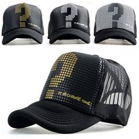 ball questions - New Arrival Adult Casual Adjustable Polyester Fashion Unisex Men Women Boys Girl Trucker Classic Question Mark Baseball Cap Hat