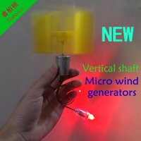 Wholesale LC20 DIY science educational toy New type of vertical axis micro wind turbines Small dc wind turbines with E10LED lamp bead