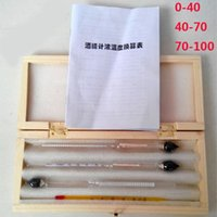 alcohol hydrometer - wooden box alcoholmeter for Vodka whiskey alcohol meter wine alcohol tester Alcohol hydrometer density meter