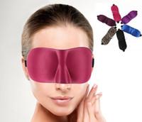 Wholesale 3D Sleep Rest Travel Eye Mask Sponge Cover Blindfold Shade Eyeshade Sleep Masks Colors