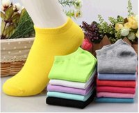 women cute socks - women summer cute candy color boat socks for cotton female ankle socks solid color thin sock slippers pairs