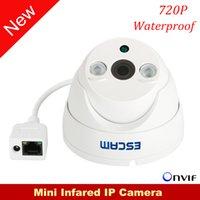 Wholesale Escam Saucerman QD530 Mini IP Camaera P H CMOS mm Fixed Lens Night Vision P2P Waterpoof Outdoor Support Onvif