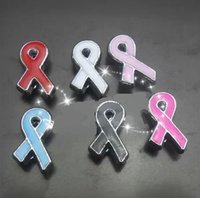 Wholesale mm mix colors Cancer Tie Ribbons Slide Charms DIY Accessories