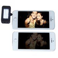 Wholesale Smartphone Portable Mini Video LED Flash Fill Light With mm Microphone Plug Adapter