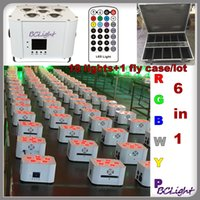 battery powered led uplights - fly case High brightness wireless dmx led uplights w RGBWYP IRC battery power wedding decoration led lights