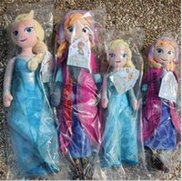 Cheap New Arrival frozen doll 50cm 20 inch frozen elsa anna toy doll action figures plush toy frozen dolls Christmas Gift DHL EMS Free