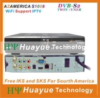 Wholesale original azamerica s1008 New satellite receiver AZ Box bravissimo orignal TOCOMFREE S928S with IKS SKS free for Nagra3 work s