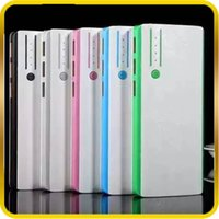 Wholesale 12000mah Ultra Thin External Battery Emergency Charge Chargers USB with flashlight mah for iPhone plus S4 S5