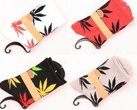 Cheap 100pcs=50pairs HUF plantlife women Stockings cotton maple leaf towel bottom fashion skateboarding men socks Cheap 40767463087 201410hql