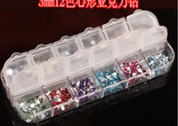 Wholesale Mix Color Teardrop Nail Art Gems Rhinestones Glitters Decoration Rhinestones Nail Art Case Size cm about