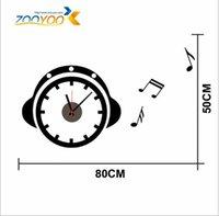 alarm clock mechanism - ZY802 Removable alarm clock DIY Artistic Wall Hanging Clocks Mechanism Wall Clock Sticker for living room