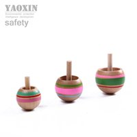 Wholesale Traditional wooden nostalgic gyro toys Three magic reversal gyroscope Children s early educational toys Inverted spinning top
