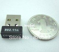 Wholesale 50 Post USB WiFi Nano Wireless LAN Adaptor b g n Mini Network Card Adapter Realtek RTL8188 Mbpspnm1