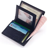 ans photo - Hot Selling genuine cow leather man wallet women s mini slim leather wallets men vertical purse ANS PL