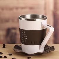 Wholesale Smart coffee cup quality stainless steel mug tea cup fashion smart glass