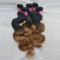 cuticle remy hair - Full Cuticles Ombre Peruvian Hair Weave Extension Two Tone Hair B quot g remy hair weave Braided Machine Weft