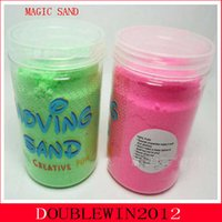 magic sand - bags set Enlighten Educational Novelty Indoor Clay Magic Kinetic Play Sand Children Building Kinetic Sand Drawing Toy Gift