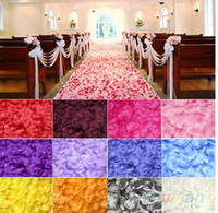 Wholesale Top quality Silk Rose Flower Petals Leaves Wedding Decorations Party Festival Table Confetti Decor8 colors