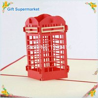 pop up booth - NEW ARRIVAL London Telephone Booth Handmade Creative Greeting Cards mm D Pop Up Gift Cards