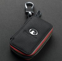 Wholesale Free ship Christmas Gift Key ring Key case Genuine Leather Automotive Remote Control Bag keychain For Great Wall Car key Bag Key Case