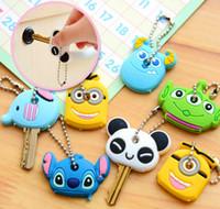key caps - Kawaii keychain cartoon key caps Animal Silicone Key Caps Covers Keys Keychain key Case key Shell