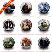 aqua brooch - 19Designs mm Diameter Party Supplies Accessories Star War Cartoon Buttons Pins Badges Brooch badge best for collection