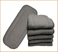 Wholesale baby Diaper inserts layers Bamboo Charcoal inserts Baby Changing Pads good quality